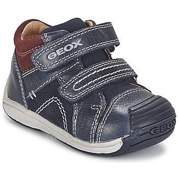Sapatos Rapaz Sapatilhas de cano-alto Geox B TOLEDO BOY Azul