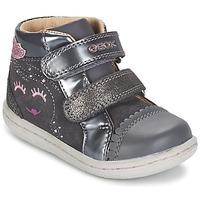 Sapatos Rapariga Sapatilhas de cano-alto Geox B FLICK GIRL Cinza