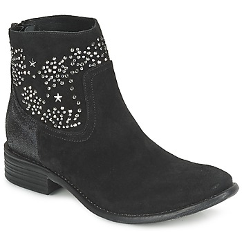 Sapatos Mulher Botins Meline VELOURS STARTER Preto