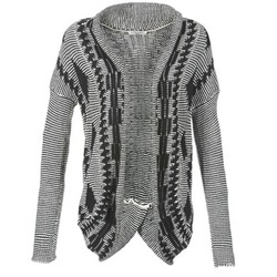 Textil Mulher Casacos de malha Teddy Smith GRANBY Cru / Preto