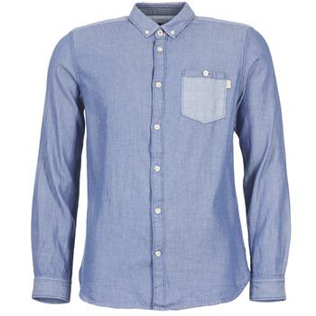 Textil Homem Camisas mangas comprida Tom Tailor INIDULLE Azul