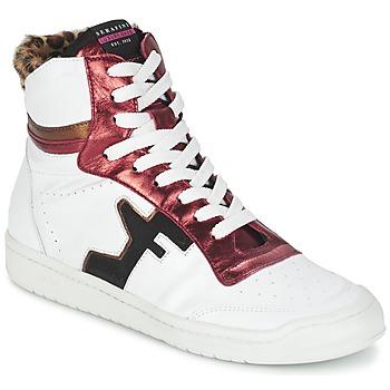 Sapatos Mulher Sapatilhas de cano-alto Serafini SAN DIEGO Branco / Vermelho