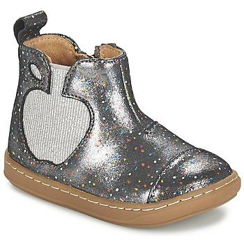 Sapatos Rapariga Botas baixas Shoo Pom BOUBA APPLE Prata