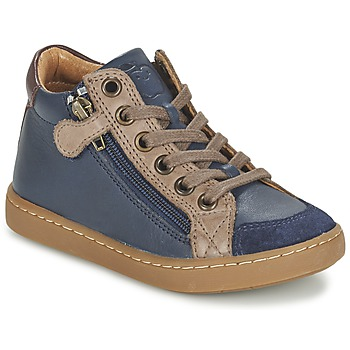 Sapatos Criança Sapatilhas de cano-alto Shoo Pom PLAY HIBI ZIP Marinho / Toupeira