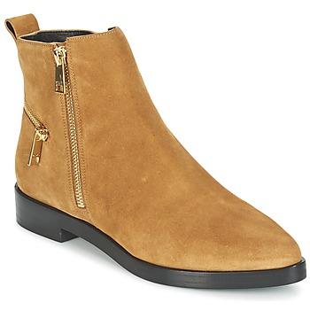 Sapatos Mulher Botas baixas Kenzo TOTEM FLAT BOOTS Camel