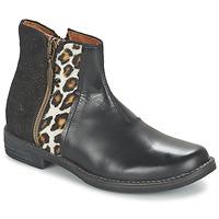 Sapatos Rapariga Botas baixas Shwik TIJUANA WILD Preto / Leopardo