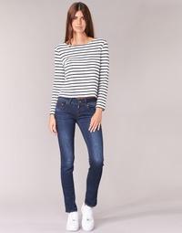 Textil Mulher Calças Jeans G-Star Raw MIDGE SADDLE MID STRAIGHT Ganga
