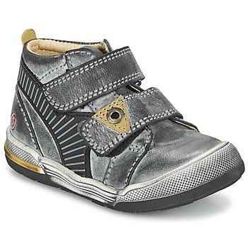Sapatos Rapaz Botas baixas GBB NATHAN Cinza / Amarelo