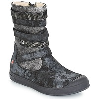 Sapatos Rapariga Botas GBB NOURIA Preto / Metalizado