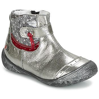 Sapatos Rapariga Botas baixas GBB NYMPHE Cinza / Estampado