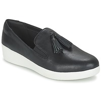 Sapatos Mulher Slip on FitFlop TASSEL SUPERSKATE Preto