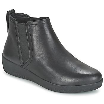 Sapatos Mulher Botas baixas FitFlop SUPERCHELSEA BOOT Preto