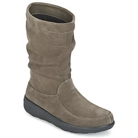 Sapatos Mulher Botas baixas FitFlop LOAF SLOUCHY KNEE BOOT SUEDE Toupeira