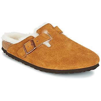 Sapatos Mulher Tamancos Birkenstock BOSTON Castanho
