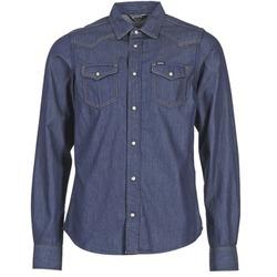 Textil Homem Camisas mangas comprida Diesel NEW SONORA Azul