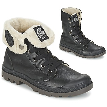 Sapatos Mulher Botas baixas Palladium BAGGY LEATHER FS Preto