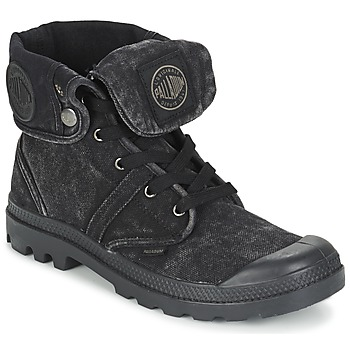 Sapatos Homem Botas baixas Palladium US BAGGY Preto / Metálico