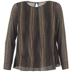 Textil Mulher Tops / Blusas MICHAEL Michael Kors OMBOBO Preto / Bege