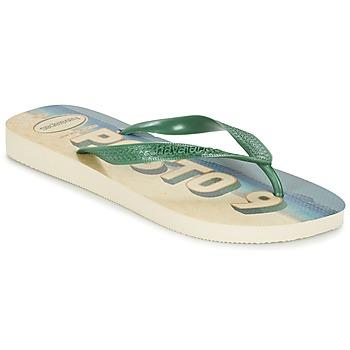 Sapatos Homem Chinelos Havaianas POSTO CODE Verde / Azul