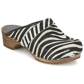 Sapatos Mulher Tamancos Sanita CAROLINE Zebra