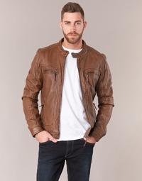 Textil Homem Casacos de couro/imitação couro Oakwood 60901 Conhaque