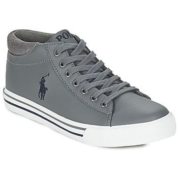 Sapatos Rapaz Sapatilhas de cano-alto Ralph Lauren HARRISON MID Cinza