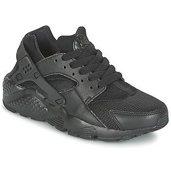 Sapatos Criança Sapatilhas Nike HUARACHE RUN JUNIOR Preto