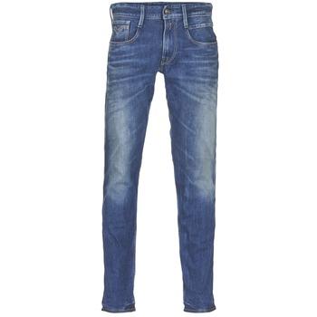 Textil Homem Calças de ganga slim Replay ANBASS Azul