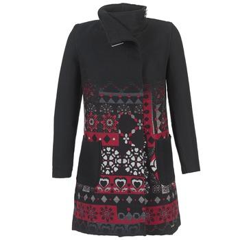 Textil Mulher Casacos Desigual JEFINITE Preto / Vermelho