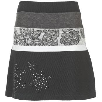 Textil Mulher Saias Desigual REVUNE Preto / Cinza