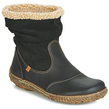 Sapatos Mulher Botas baixas El Naturalista NIDO Preto