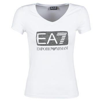 Textil Mulher T-Shirt mangas curtas Emporio Armani EA7 FOUNAROLA Branco