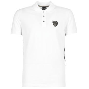 Textil Homem Polos mangas curta Emporio Armani EA7 ONTRAFOL Branco