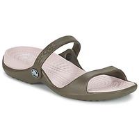 Sapatos Mulher Sandálias Crocs Cleo Chocolate / Algodão / Rebuçado