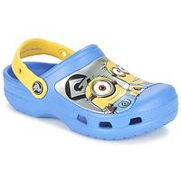 Sapatos Criança Tamancos Crocs CC Minions Clog Azul / Amarelo