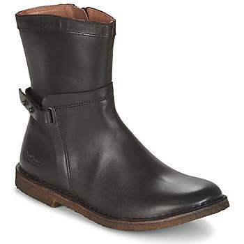 Sapatos Mulher Botas baixas Kickers CRICKET Castanho / Escuro