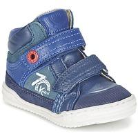 Sapatos Rapaz Sapatilhas de cano-alto Kickers JINJINU Azul