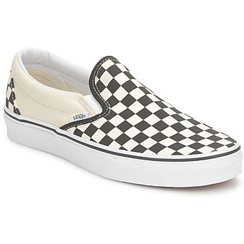 Sapatos Slip on Vans CLASSIC SLIP ON Preto / Branco
