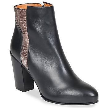 Sapatos Mulher Botins Emma Go BOWIE Preto / Metálico