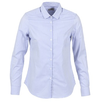 Textil Mulher camisas Casual Attitude FANFAN Branco / Azul