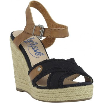 Sapatos Mulher Alpargatas Refresh 61746 Negro