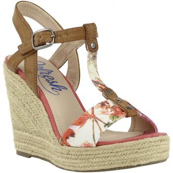 Sapatos Mulher Alpargatas Refresh 61853 TEX CORAL Rojo