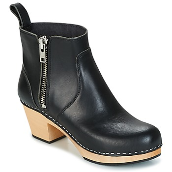 Sapatos Mulher Botins Swedish hasbeens ZIP IT EMY Preto
