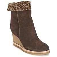 Sapatos Mulher Botins Vic VANCOVER GUEPARDO Castanho / Leopardo