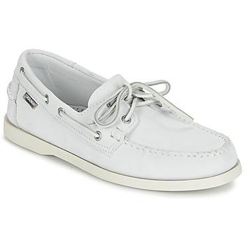 Sapatos Homem Mocassins Sebago DOCKSIDES Branco