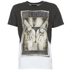Textil Homem T-Shirt mangas curtas Religion GRABBING Branco / Preto