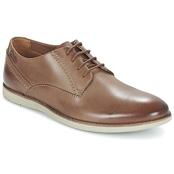 Sapatos Homem Sapatos Clarks FRANSON PLAIN Castanho