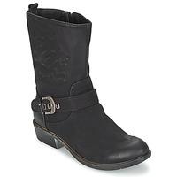 Sapatos Mulher Botas baixas Spot on GANIA Preto