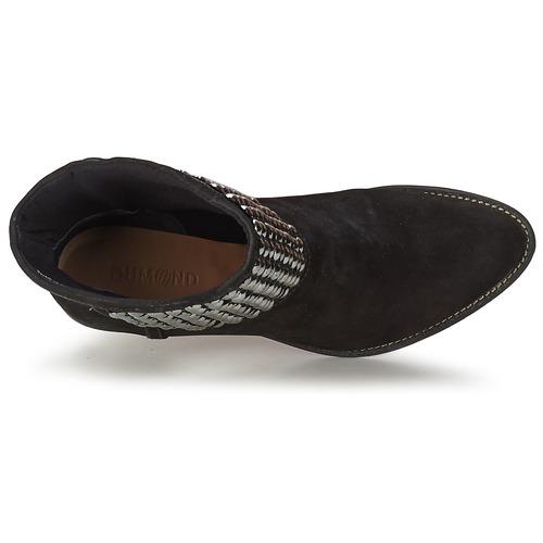 Dumond Guouzi Preto - Entrega Gratuita Sapatos Botins Mulher 6920