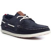 Sapatos Homem Sapato de vela Tommy Hilfiger M2385ILES 1B Blue